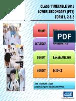 Timetable Pt3