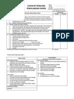 Checklist Rencana Pemulangan Pasien