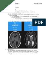 Brain MRI Sequences
