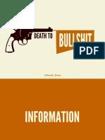 Death-To-bullshit - Fim Da Besteira - Excesso de Informação - Dados Sobre Livros e Fotos Publicadas