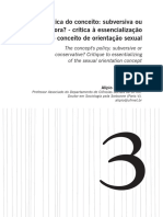 A Política Do Conceito Subversiva Ou Conservadora - Crítica à Essencialização Do Conceito de Orientação Sexual