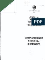 CIE 10 Trastornos Mentales y Del Comportamiento. Descripciones Clinicas y Pautas Para El Diagnostico