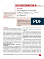 Use of Repetitive Transcranial Magnetic Stimulation in Treatment of Negative Symptoms of Schizophrenia