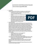 Pedoman Penulisan Proposal Penelitian Kualitatif
