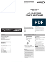 Lennox AC Remote Controller Owners Manual 20pp_Jan 2012