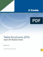 Tekla Structures 2016 Open API Release Notes