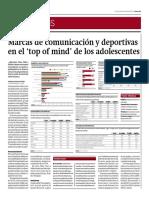 Marcas de Comunicación y Deportivas en El Top of Mine