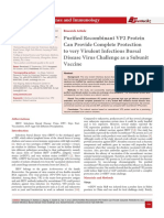 Purified Recombinant VP2 Protein Can Provide Complete Protection to very Virulent Infectious Bursal Disease Virus Challenge as a Subunit Vaccine