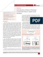 Introduction of Stereo Chemical Constraints into β -Amino Acid Residues