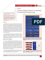 Advanced Shape Memory Technology for Biomedical Engineering