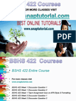 BSHS 422 Academic Success /Snaptutorial