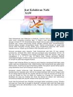 Sejarah Singkat Kelahiran Nabi Muhammad SAW