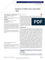 Strategies for Prevention of Health Care Associated Infections in the Nicu