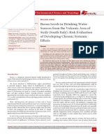 Boron Levels in Drinking Water Sources from the Volcanic Area of Sicily (South Italy)