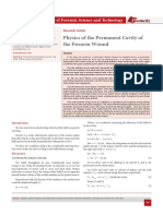 Physics of the Permanent Cavity of the Firearm Wound