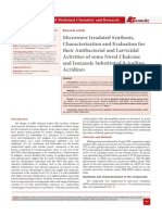Microwave Irradated Synthesis, Characterization and Evaluation for their Antibacterial and Larvicidal Activities of some Novel Chalcone and Isoxazole Substituted 9-Anilino Acridines