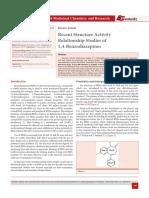 Recent Structure Activity Relationship Studies of 1,4-Benzodiazepines