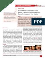 Percutaneous Pinning of Distal Radius Fractures Using Hematoma Block