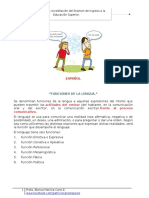 Espanol-funciones de La Lengua
