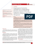 Diaphragmatic Eventration Misdiagnosed as Diaphragmatic Hernia in a Preterm Infant with Respiratory Distress