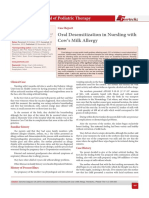 Oral Desensitization in Nursling with Cow's Milk Allergy