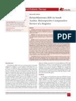 Retinoblastoma (RB) in Saudi Arabia- Retrospective Comparative Review of a Registry