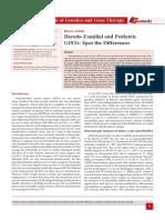 Heredo-Familial and Pediatric GISTs