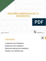 1.1 Estadistica-poblacion y Muestra-la Variable