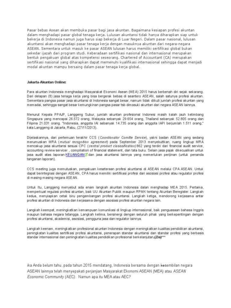 Pasar bebas asean akan membuka pasar bagi jasa akuntan malvernweather Images