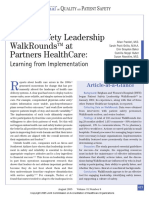Patient Safety Leadership Walkrounds