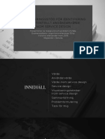 Examensarbete presentation av bakgrund & problemområde