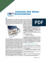 Domestic Hot Water Recirculation