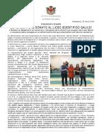 Defibrillatore donato al Liceo Scientifico Galilei (23/03/2016)