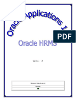 Oracle Applications - HRMS 11i - V1.1
