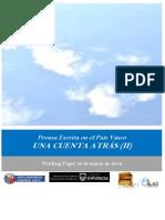 Prensa Escrita en el Pais Vasco. UNA CUENTA ATRAS (II)
