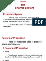 Chapter 2 - Economic System