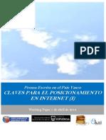 Prensa Escrita en el País Vasco. CLAVES PARA EL POSICIONAMIENTO EN INTERNET (I)
