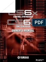 Yamaha CS6x-CS6R Owner's Manual English
