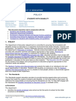 students-with-disability policy