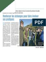 Article Espace Alpin mars 2015_Renforcer les échanges pour faire évoluer ses pratiques