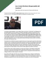 Stefano Maria Toma è Stato Direttore Responsabile Del Codice Dell Informazione