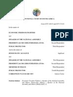 Volledige uitspraak van konstitusionele hof oor Nkandla