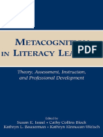 Metacognition in Literary Learning