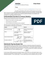 Statistics for Dummies - Cheat Sheet
