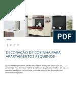 Decoração de Cozinha Para Apartamentos Pequenos _ Móveis Bartira