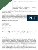 Aux sources de la civilisation _ Les jeunes élites brésiliennes et le voyage en Europe dans la seconde moitié du XIXe siècle (1850-1914) - RITA - Revue Interdisciplinaire de Travaux sur les Amériques