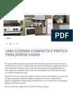 Uma Cozinha Compacta e Prática Para Jovens Casais _ Móveis Bartira