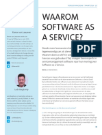 Waarom Software as a Service?