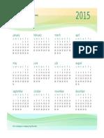 Any Year Business Calendar 1