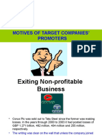Motives of Target Companies